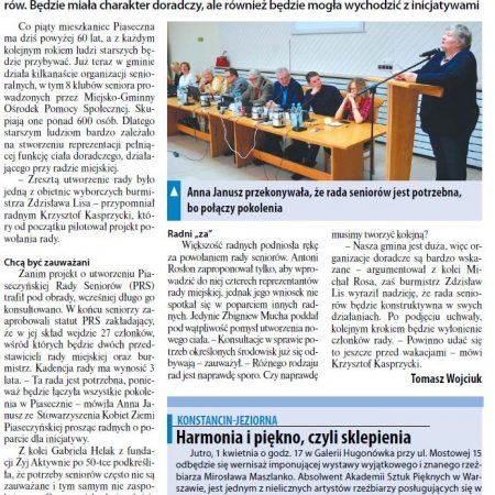 Media o Piaseczyńskiej Radzie Seniorów