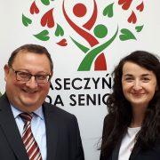 Ewelina Wójcik i Jerzy Mościcki - nowi radni Piaseczyńskiej Rady Seniorów
